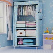 寝室简易衣柜单人宿舍小号布衣柜实木牛津布加粗加固布艺折叠收纳