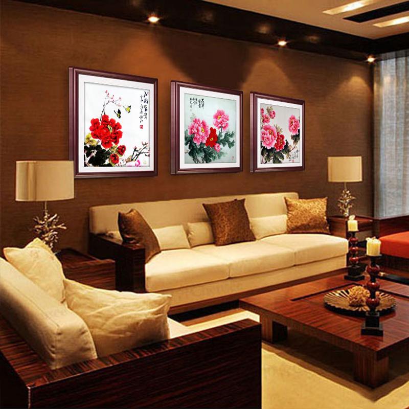 中式国画牡丹挂画