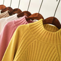 Net red turtleneck pullover women's autumn and winter new Korean version of lazy wind thickening loose small fresh sweet sweater
