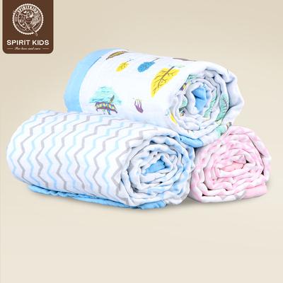 spiritkids宝宝纱布空调盖毯儿童毛毯婴儿空调被子夏季新生儿毯子