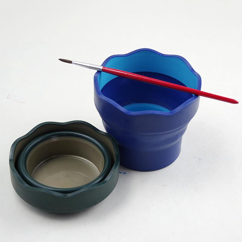 德国辉柏嘉可伸缩式洗笔筒 可折叠水杯 便携式小水桶