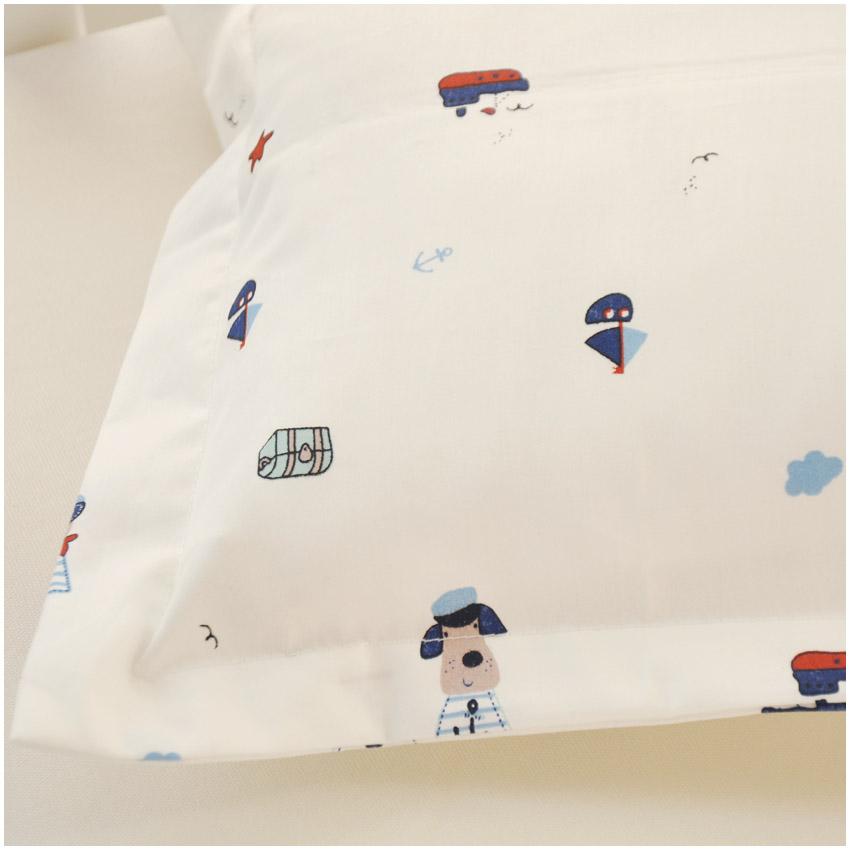 然贝A类60支贡缎婴儿全棉纯棉花枕头宝宝新生儿童枕定型枕头枕套