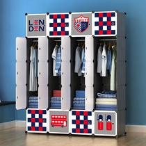 组合衣柜简约现代经济型双人衣橱钢架收纳柜简易衣柜布艺布衣柜