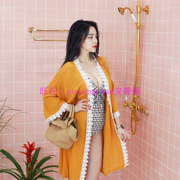 韩国代购2018新款刺绣优雅披肩 海滩外套 百搭优雅开衫
