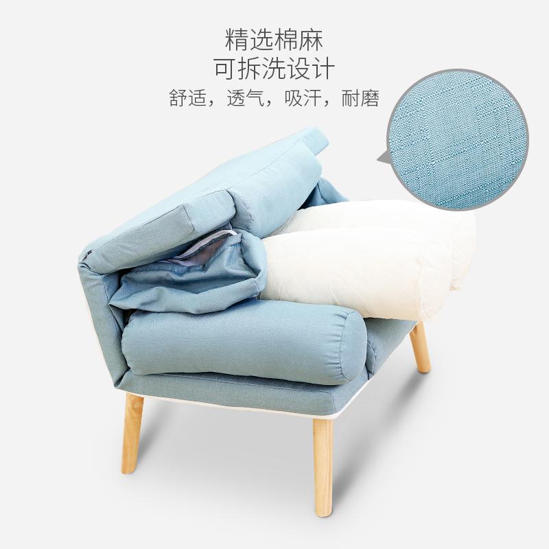 懒人单人沙发椅小户型阳台小沙发卧室喂奶椅看书休闲沙发靠背躺椅