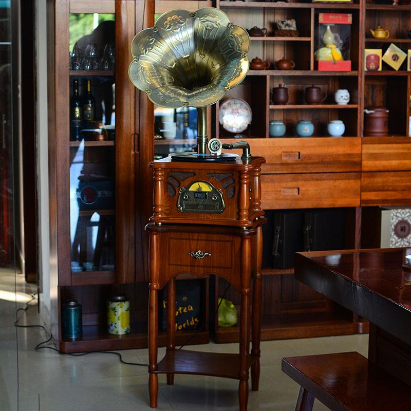 今墨复古留声机音响客厅欧式黑胶唱片机仿古流声机电唱机