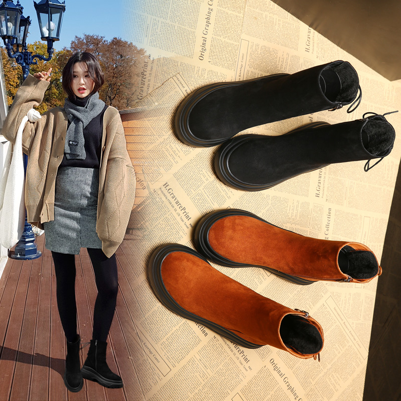 厚底松糕冬鞋