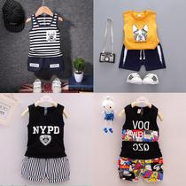 男宝宝背心套装01-2-3-4岁男童夏款无袖韩版短裤潮儿童夏装两件套