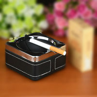 Home decoration storage large stainless steel with lid ashtray Creative personality fashion European gift for boyfriend