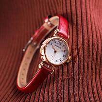 聚利时手表学生韩版简约时尚潮流休闲大气防水皮带冷淡风网红女表