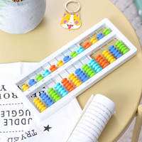 Deli pupils 13 files 7 abacus abacus pupils children's abacus mental arithmetic students 5 beads abacus with liquidation one or two grade abacus mental arithmetic kindergarten teaching toy abacus
