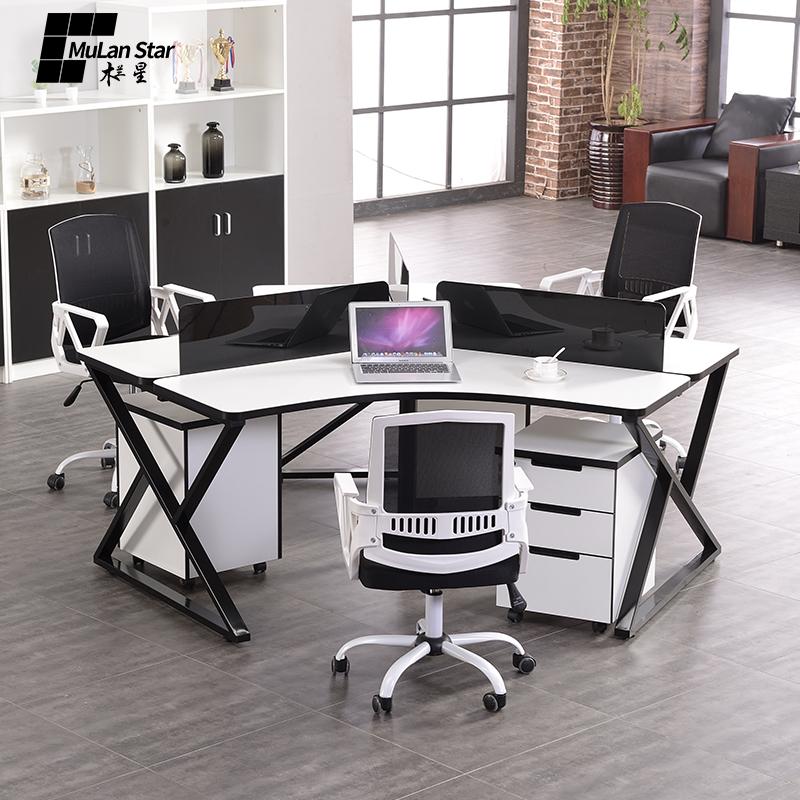 办公桌三人位
