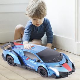 遥控变形车感应变形汽车金刚无线遥控车机器人充电动男孩儿童玩具图片