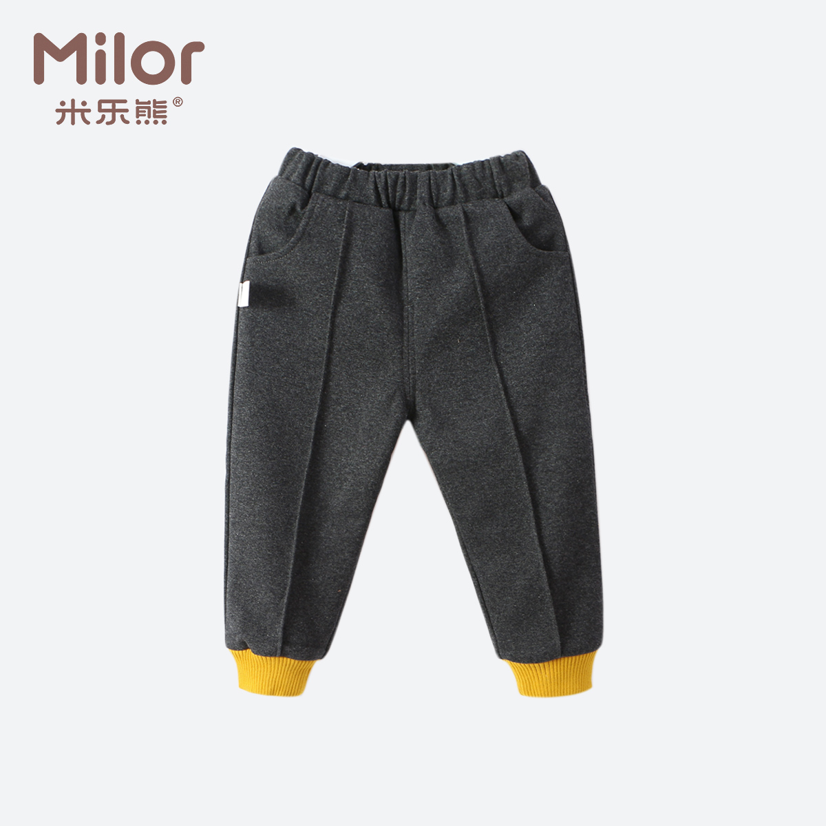 岁婴儿裤子0-3加绒米乐熊男宝宝衣服冬季