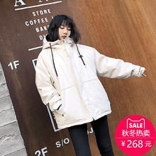 2018新款棉袄冬季外套女加厚中长款工装棉服女学生韩版宽松bf棉衣