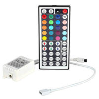 LED light with mini controller colorful RGB module light bar 3 button manual dimming flashing breath beating 5V12V