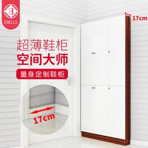 超薄鞋柜简约现代进门玄关柜门厅收纳储物柜欧式门口17cm定制柜子