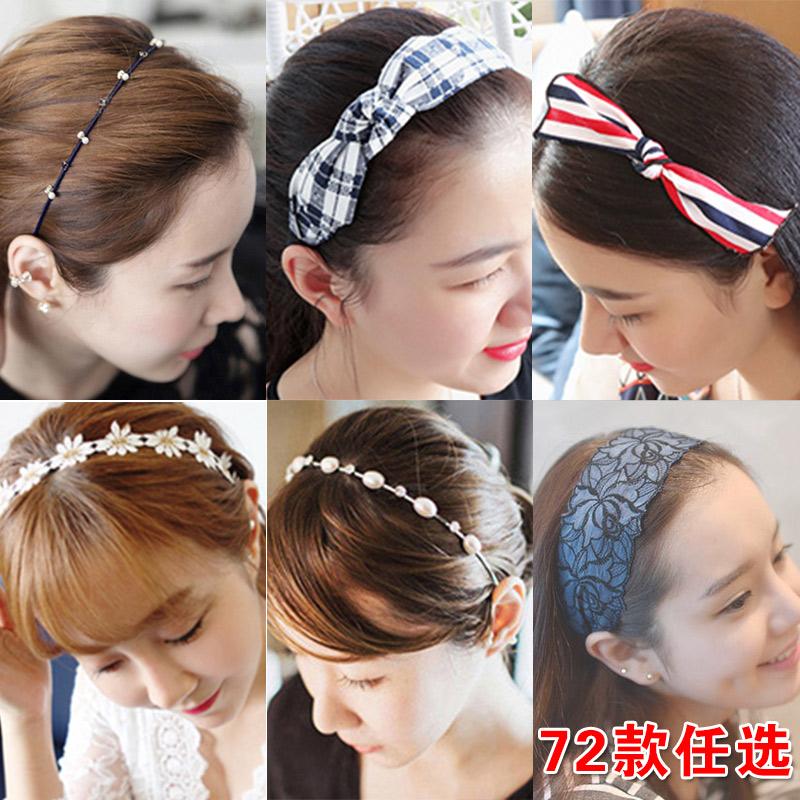 韩国发饰压发带蝴蝶结宽边女发.