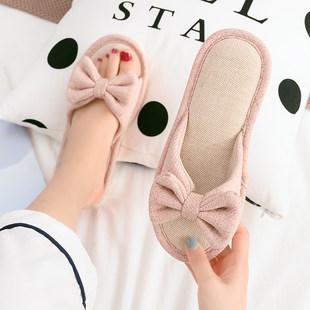 亚麻拖鞋家用春秋四季室内家居情侣防滑软底居家地板棉麻拖鞋女夏