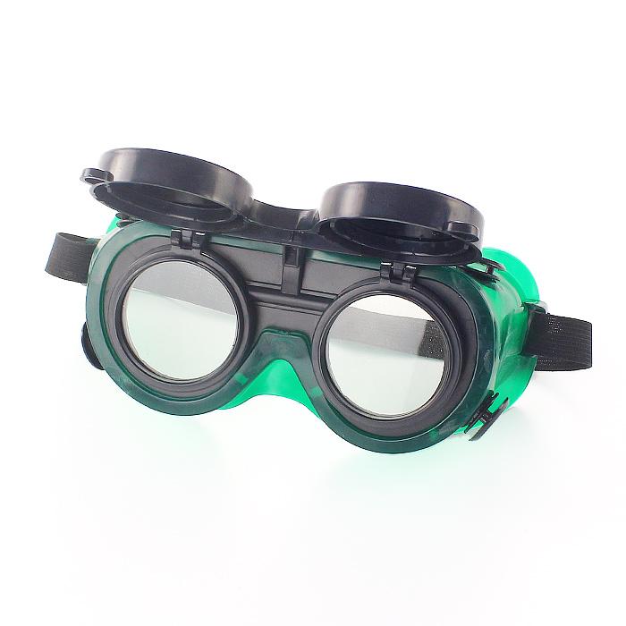 气焊护目镜焊工防护墨镜 防冲击劳保双翻电焊防护眼镜翻盖电焊镜