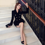 VJE fall and winter clothes suit wear skirts sexy skirts velvet significantly thin suit female