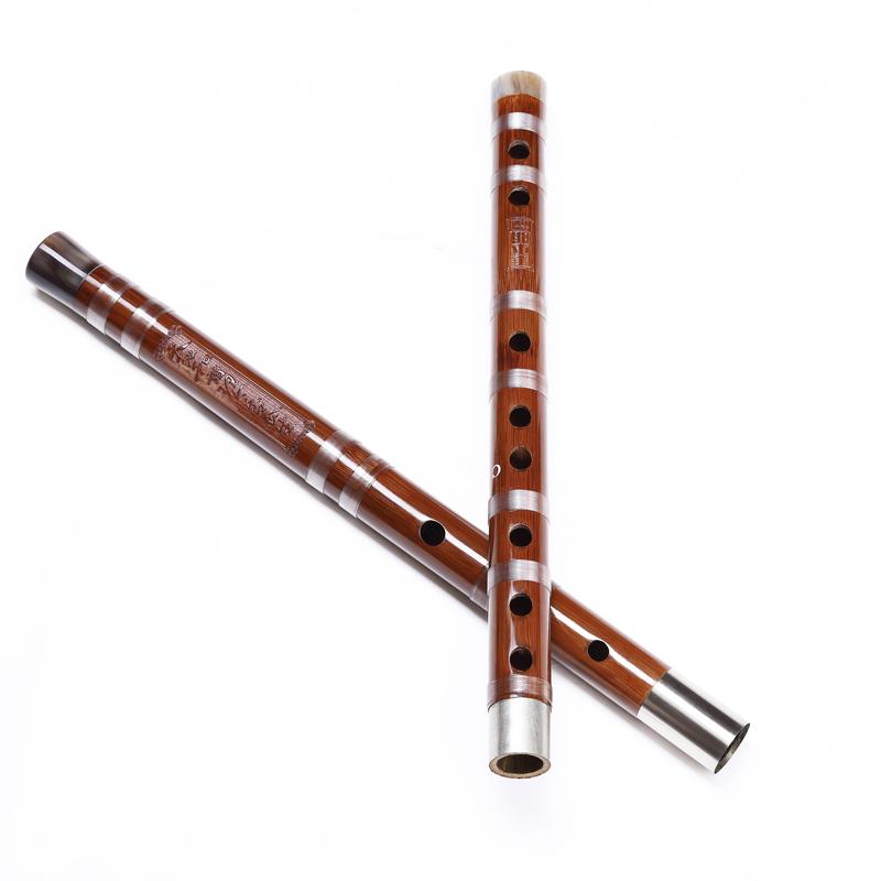 高档白铜双插专业演奏苦竹笛子横笛乐器 1 988 鸣声竹笛丁小明精制