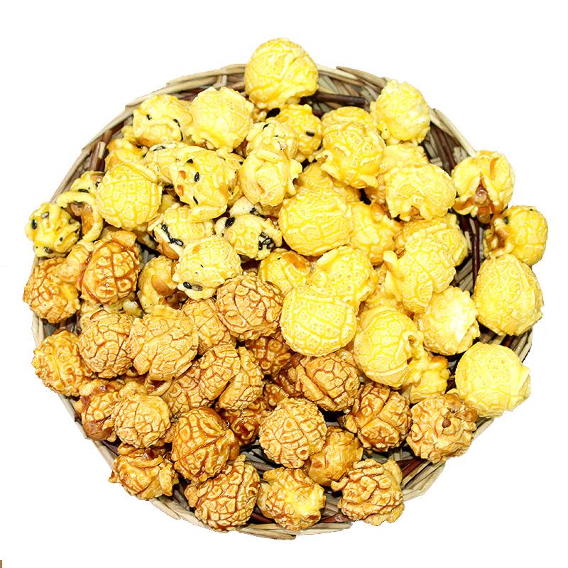 热烈牌10包美式球形爆米花办公室零食黄金豆焦糖奶油甜味即食小吃