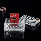 Czech BOHEMIA imported crystal glass ashtray with anti-fly ash Nordic home office high-end box