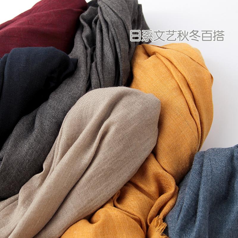 舒適棉麻圍巾