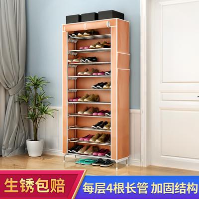 多层鞋架不锈钢加厚创意收纳家用牛津布简易防尘鞋架子宿舍阳台