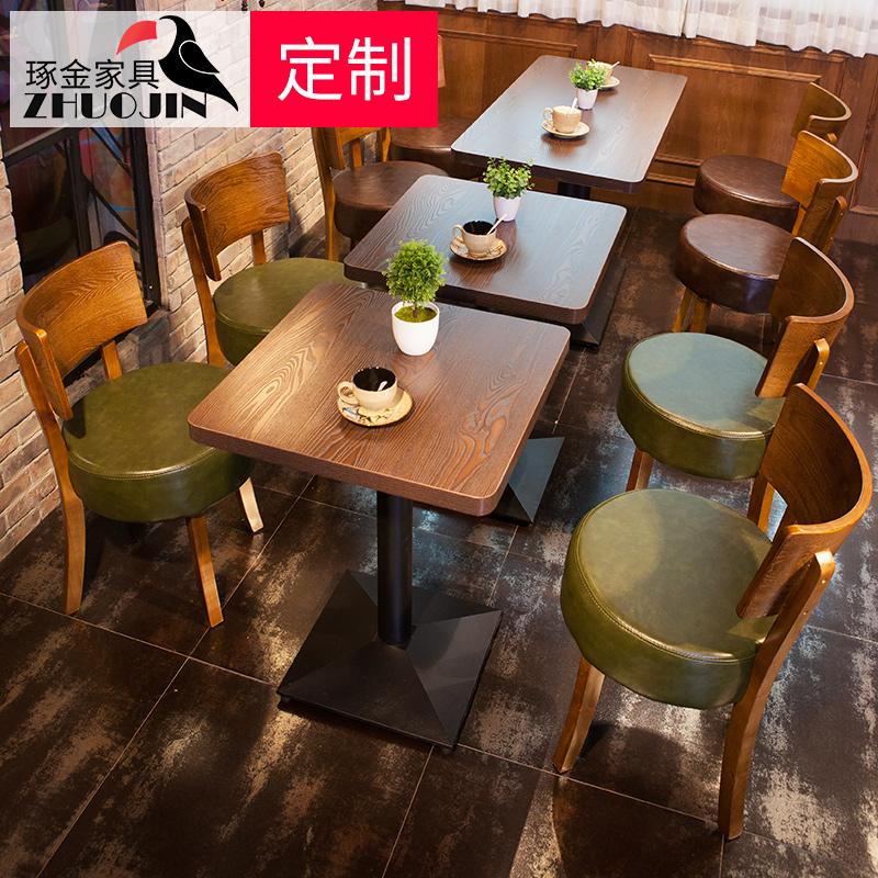 水曲柳 甜品店餐桌椅