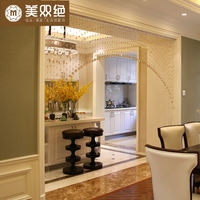 Crystal curtain bead curtain bathroom curtain decorative curtain partition curtain porch screen living room bedroom curtain free punch
