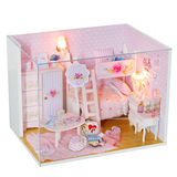 Diy cottage handmade mini princess small house model assembled villa toy creative birthday gift female