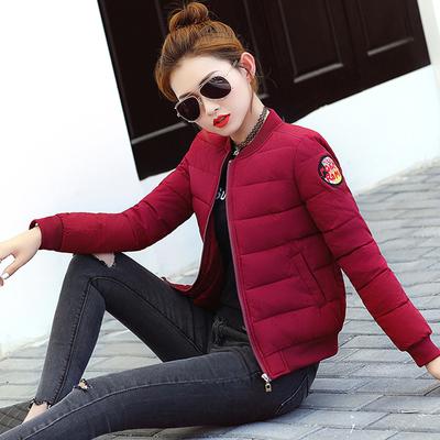 情美姿2017冬季新品韩版修身时尚棉袄女士短款棉服棒球服学生外套