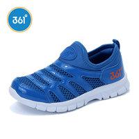 361童鞋夏季新款男童网面透气跑鞋一脚蹬女童毛毛虫鞋儿童运动鞋