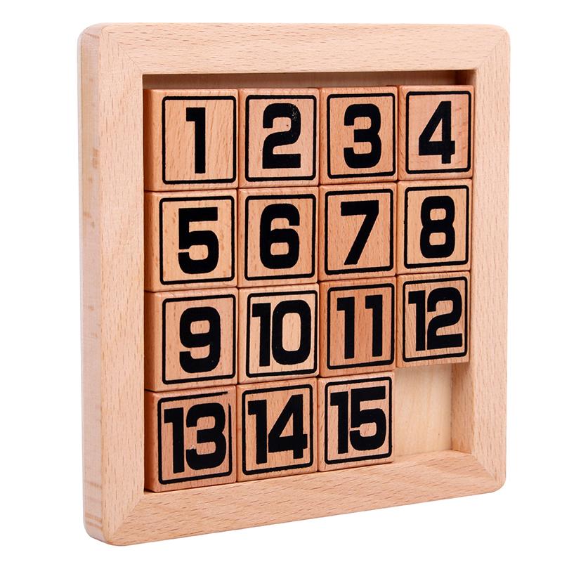 数字华容道三国益智木制玩具成人儿童小学生拼图拼板智力数学拼图
