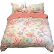 Thick coral fleece four-piece female fleece winter flannel warm bed crystal law velvet quilt cover sheets