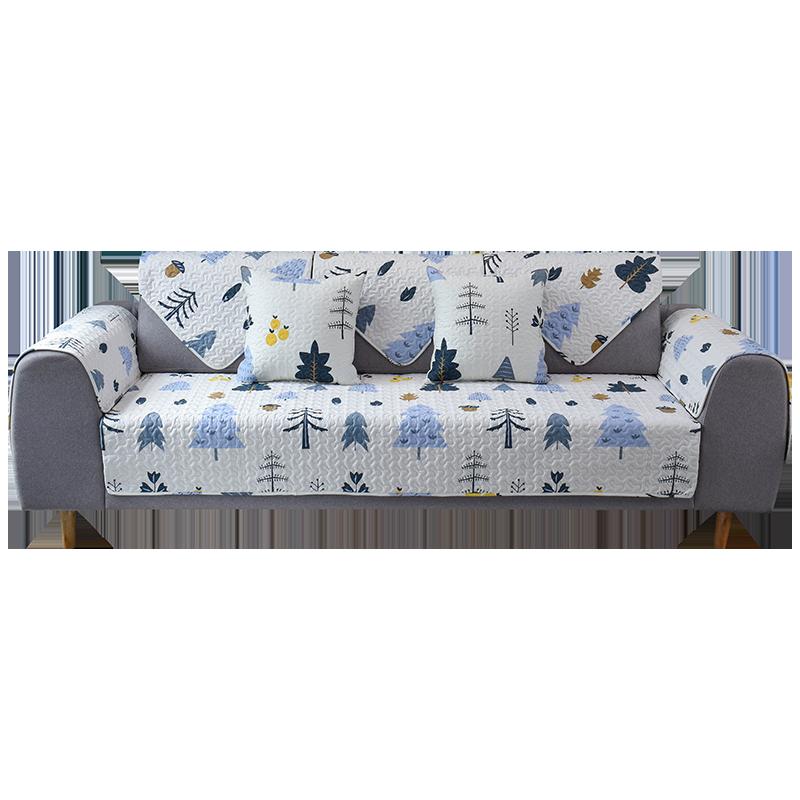 九只猫北欧纯棉沙发垫