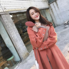 Zhang Dayi Winter 2018 Red Camel Double Color 100 Wool Double-faced Wool Overcoat