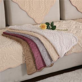 冬季沙发垫布艺毛绒沙发套四季通用防滑巾罩法兰绒简约现代客厅