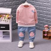 男童装宝宝春秋装衣服装婴儿小男孩可爱两件套装一周岁半1-2-3岁0