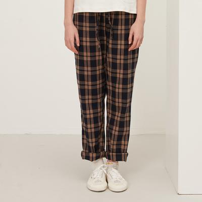 Square Houlest2018春夏新品原创简约百搭格子学生显瘦情侣款长裤
