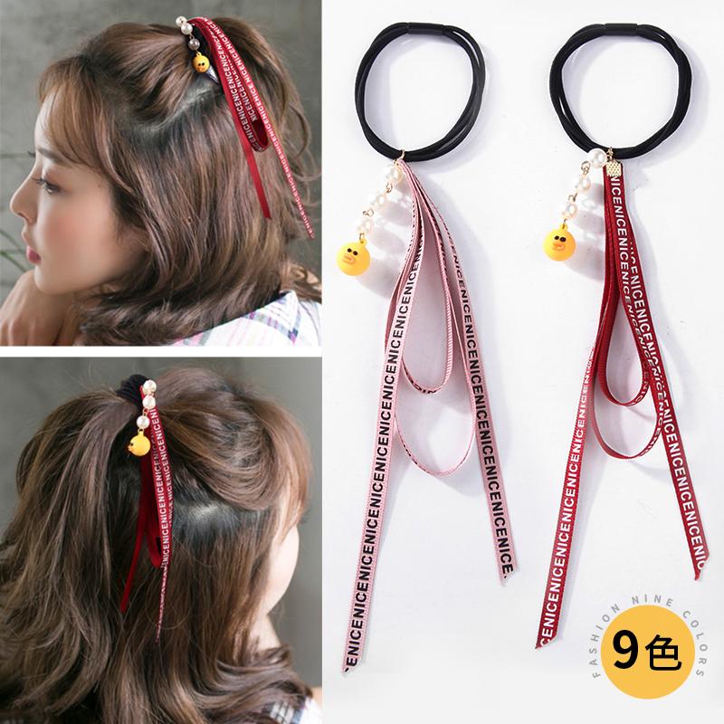 发圈韩国可爱扎头绳长飘带小清.