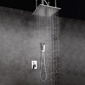全铜冷热水吸吊顶隐藏式预埋盒暗装花洒入墙式酒店嵌入式淋浴套装
