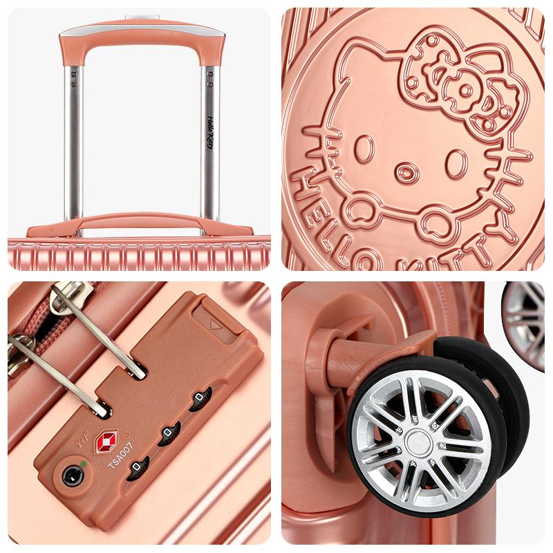 KT凯蒂猫儿童拉杆箱女童公主卡通学生行李箱韩版万向轮旅行箱20寸