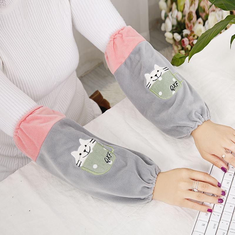 长款袖套防污学生办公女款套袖韩版男式护袖秋冬家务工作袖筒袖头