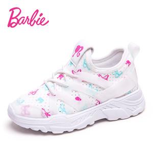 芭比童鞋女童运动鞋2019春季新款儿童网红鞋女小童公主风跑鞋百搭