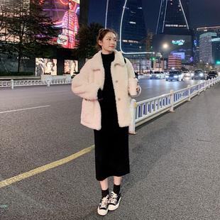 2018秋冬新款女装韩版毛衣连衣裙针织毛衫长裙包臀裙内搭裙子冬季