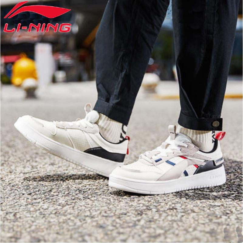 李宁男鞋休闲鞋2019秋季新款透气软底复古潮鞋正品学生板鞋运动鞋
