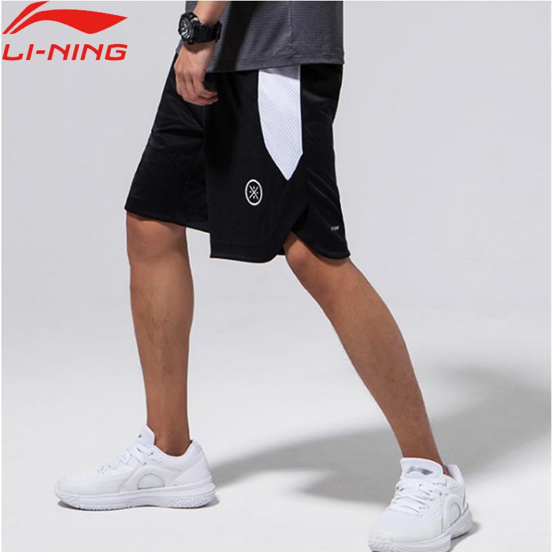 李宁篮球裤男裤夏季五分韦德短裤跑步裤子透气新款速干迷彩运动裤
